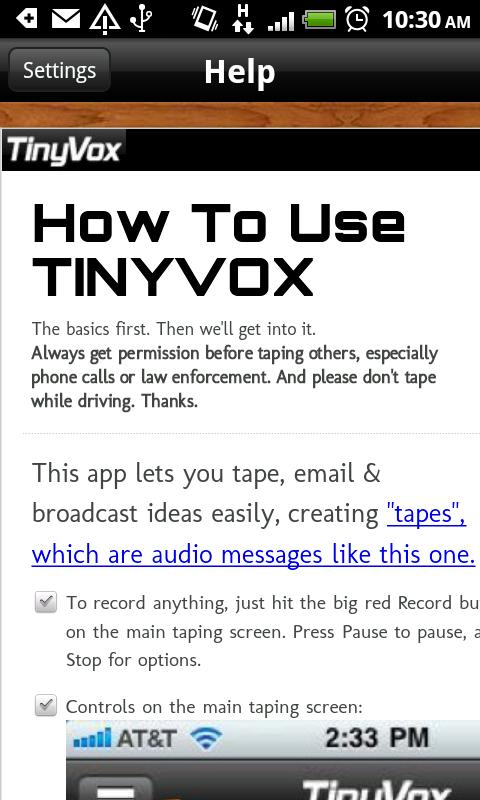 TinyVox · Infinite Tape Deck - screenshot