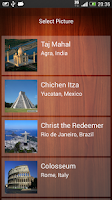 Screenshot of 7 Wonders Picture Puzzle,slide