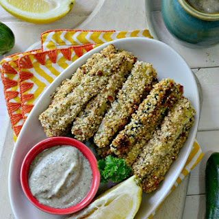 Quinoa-Crusted Baked Zucchini Fries
