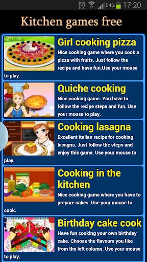 kitchen games free