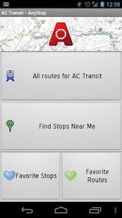 AC Transit: AnyStop- screenshot thumbnail