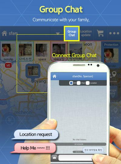Famy - Family chat & Locator + - screenshot