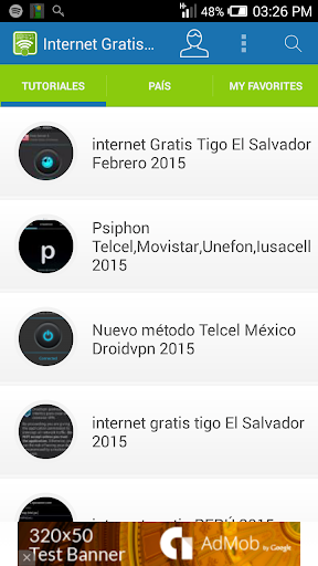 internet gratis android 2015