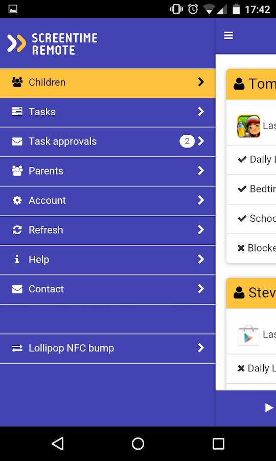 Screen Time Remote Control - screenshot
