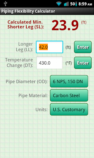 Piping Flexibility Calculator