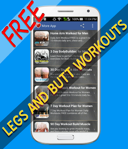 Legs and Butt Workouts free