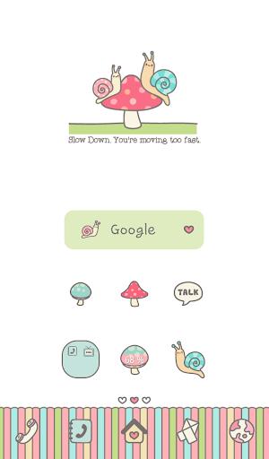 one pair snail dodol theme