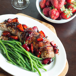 Pork Tenderloin with Balsamic Strawberries.
