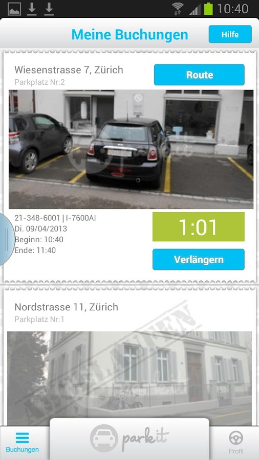 park it - die Parkplatz App - screenshot