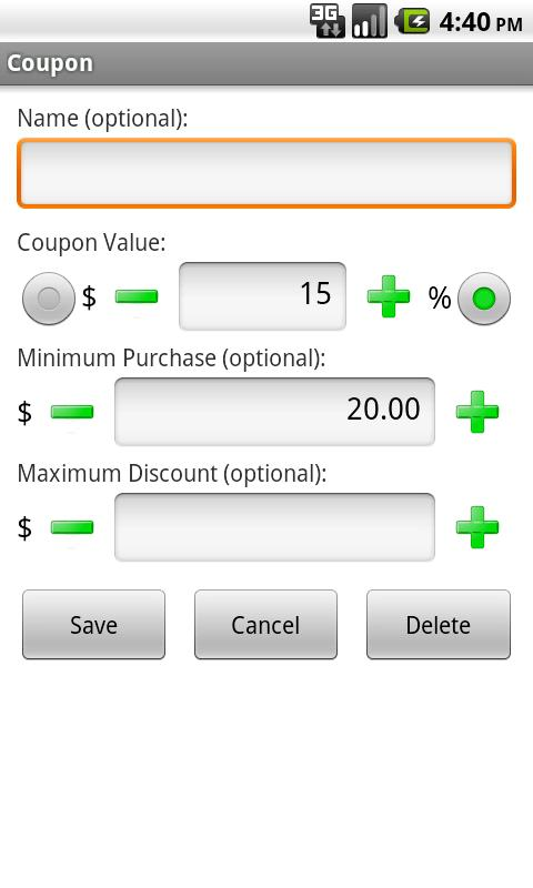 Mega Coupon Calculator - screenshot