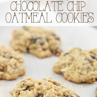 Soft & Chewy Chocolate Chip Oatmeal Cookie.