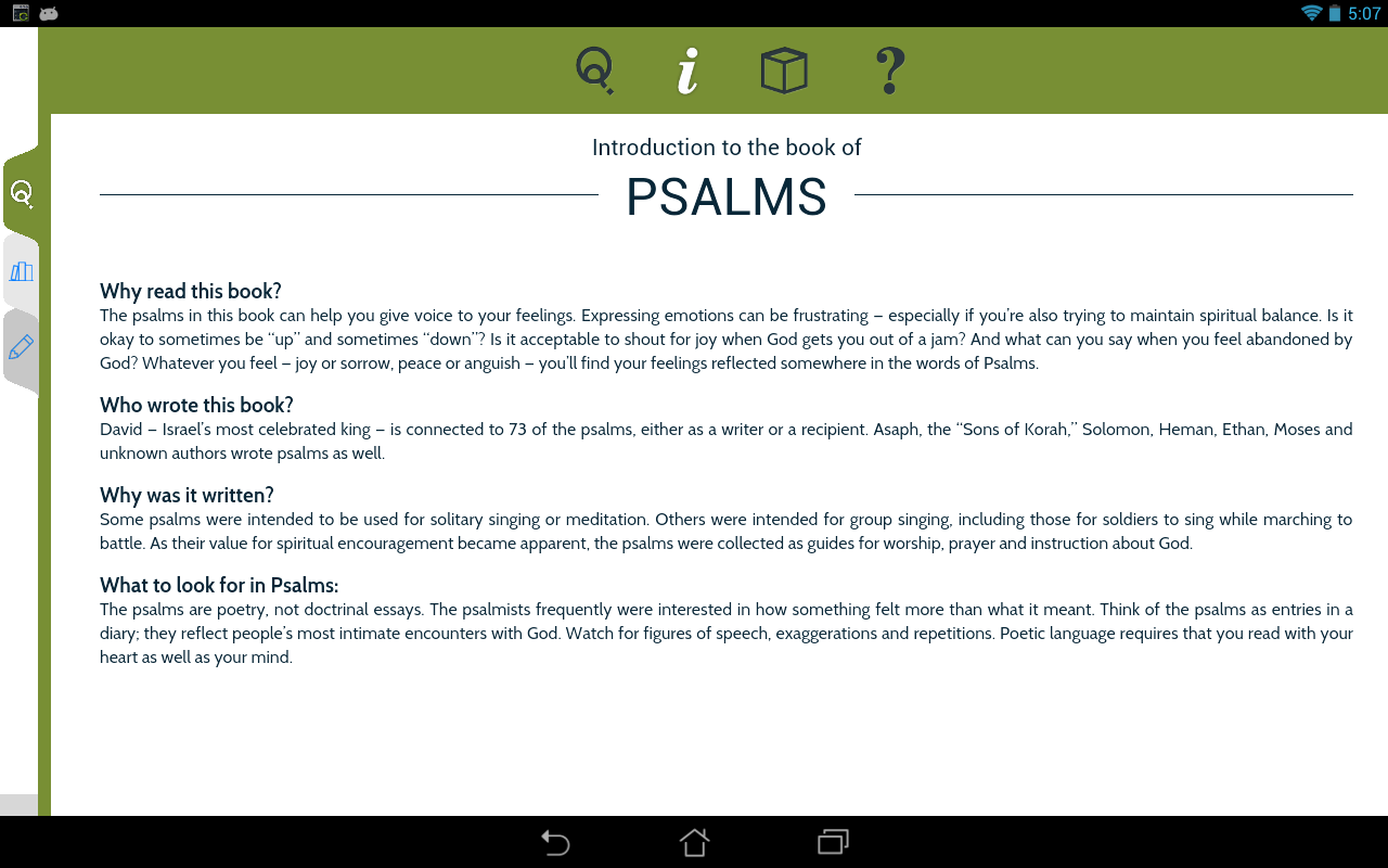 NIV Quest Study Bible - screenshot