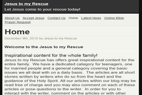 Screenshots for Jesus to my Rescue