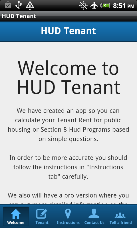 HUD Tenant- screenshot