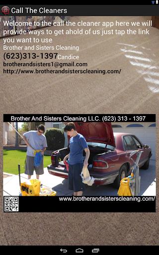 【免費生產應用App】Call The Cleaners-APP點子