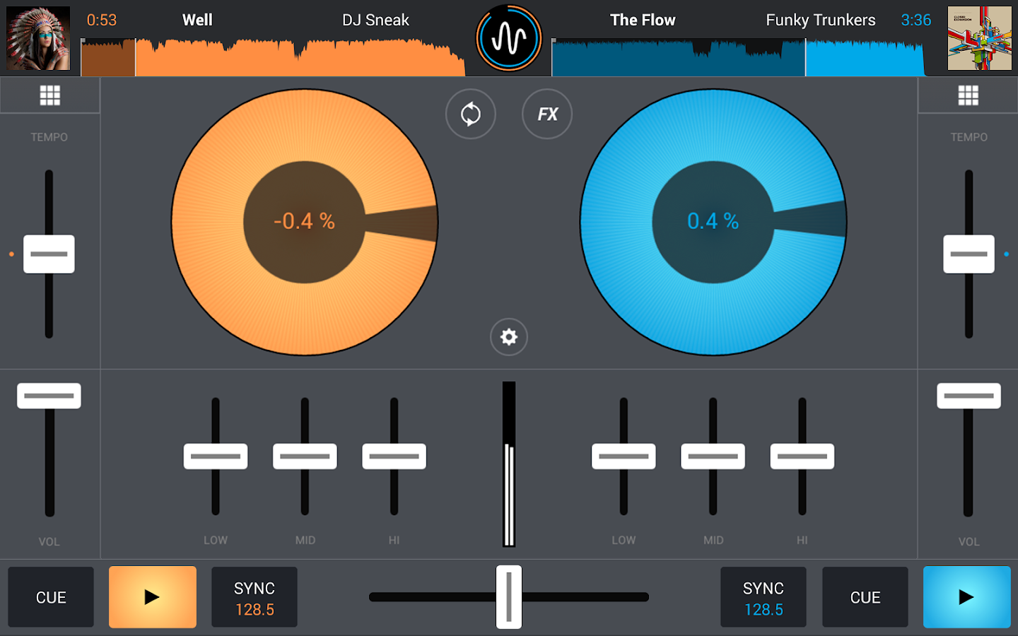 Cross DJ - Mix your music - screenshot
