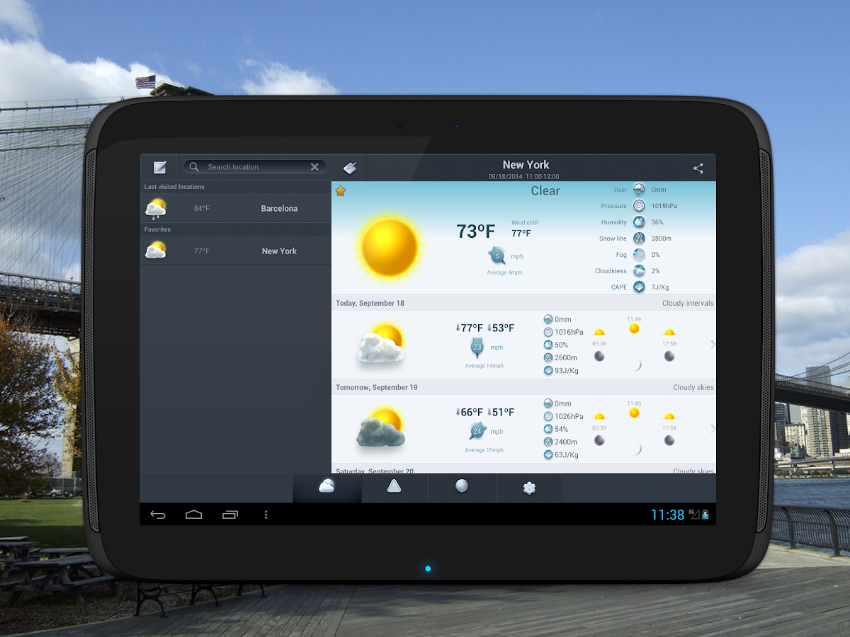 Weather 14 days - screenshot