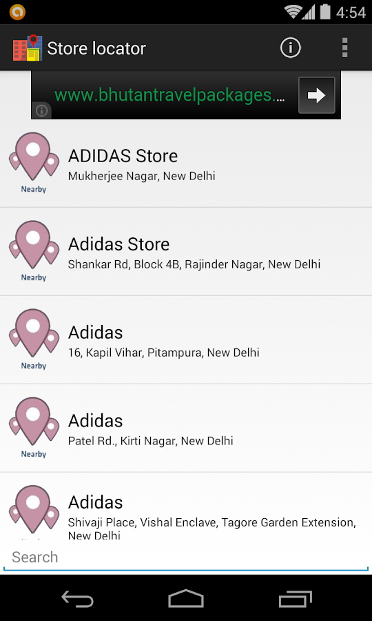 Store Locator - screenshot