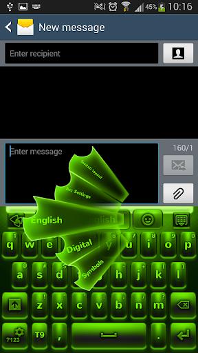 绿色霓虹灯键盘
