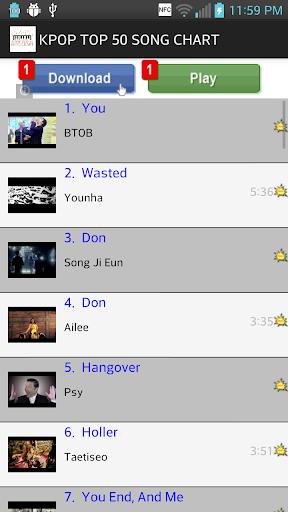 KPOP TOP 50 SONG CHART