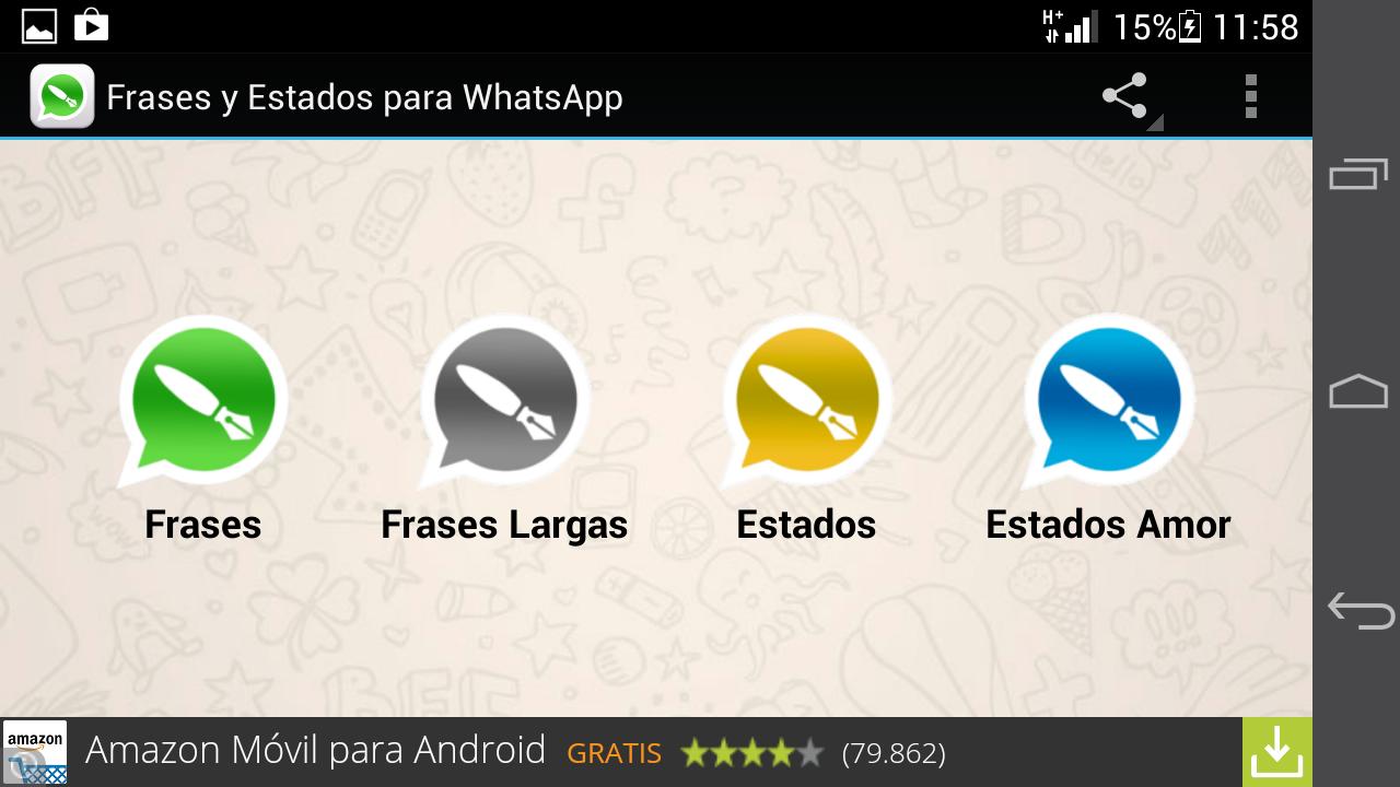 Estados y frases para WhatsApp captura de pantalla