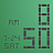 LED Clock Widget Tropical