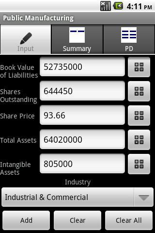 Altman Z-Score +- screenshot