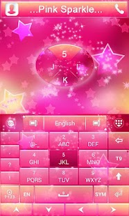 Pink-Sparkle-GO-Keyboard-Theme 4