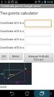 Screenshot of Coordinate triangle solve Lite