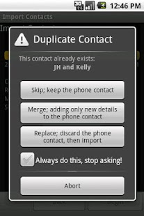 Import Contacts (old) - screenshot thumbnail