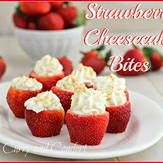 Strawberry Cheesecake Bites.