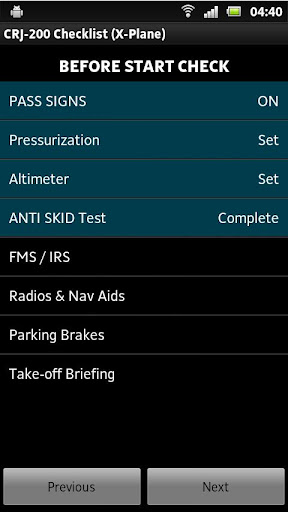 CRJ-200 Checklist