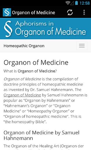 Organon of Medicine Homeopathy