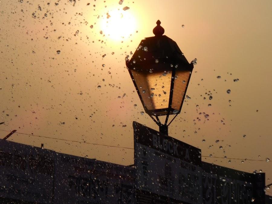 the setting sun in the sky of KOLKATA BOOK FAIR 2014- photo by Suvo by Brishti Sarkar - Landscapes Sunsets & Sunrises