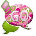 GO SMS THEME/GirlyShapes icon