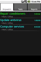 Screenshot of qTimeRec Pro