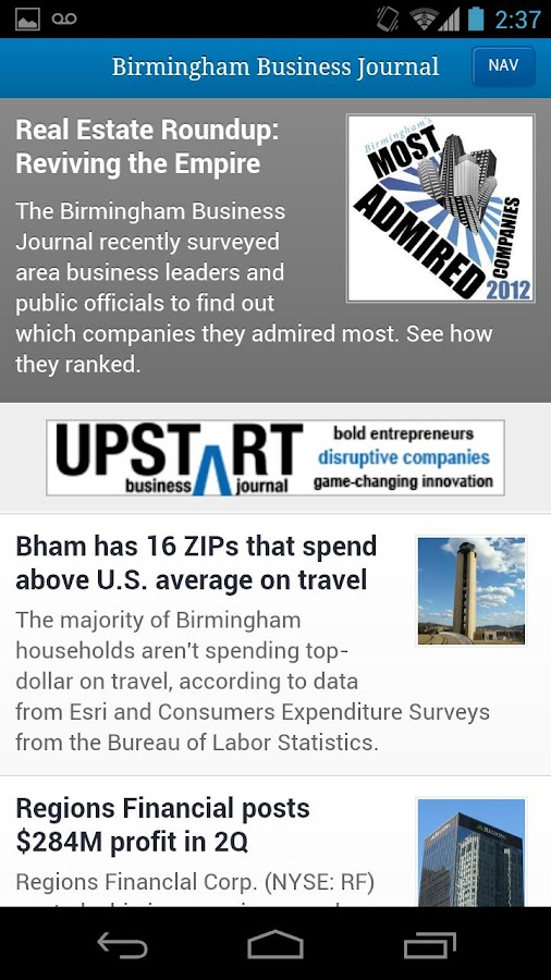 Birmingham Business Journal- screenshot