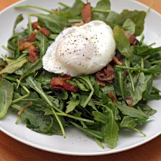 Michael Ruhlman's Warm Arugula Salad with Bacon and Poached Eggs