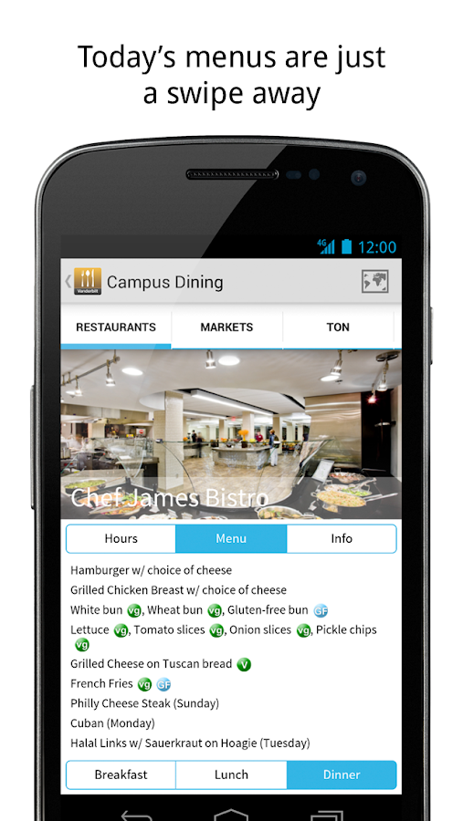 Vanderbilt Campus Dining- screenshot