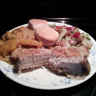 Slow Cooker Harvest Squash Pork Chops.