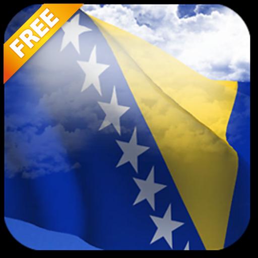 Android aplikacija 3D zastava Bosne uživo pozadinu