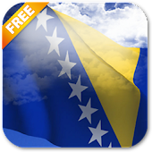 3D Bosnia Flag Live Wallpaper