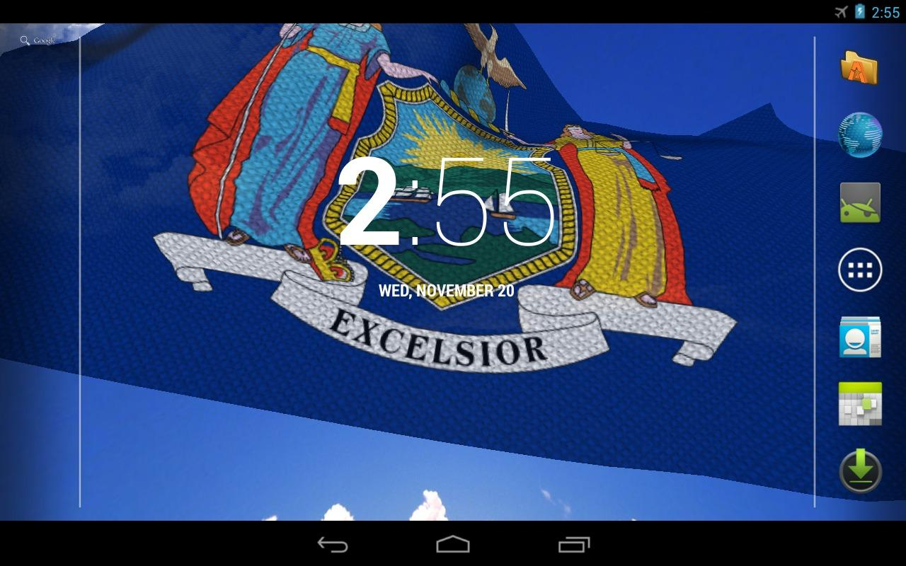 New York Flag Live Wallpaper - screenshot