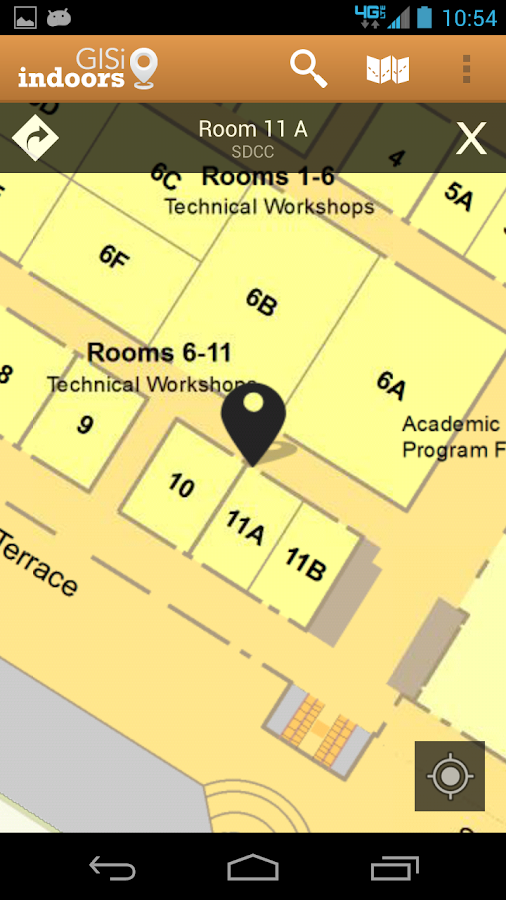 ESRI UC2013: Indoor Navigation - screenshot
