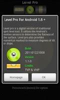 Screenshot of Digital Level Pro