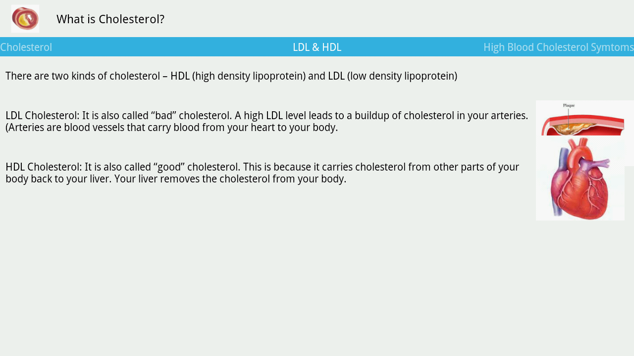 Cholesterol- screenshot