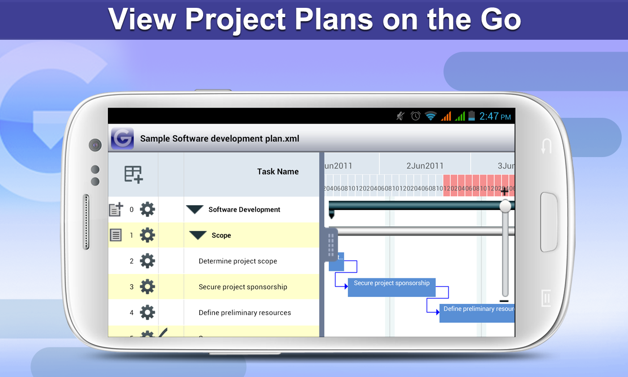 Gantt Pro -Project Plan Reader - screenshot