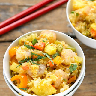 Spicy Pineapple Shrimp Fried Rice
