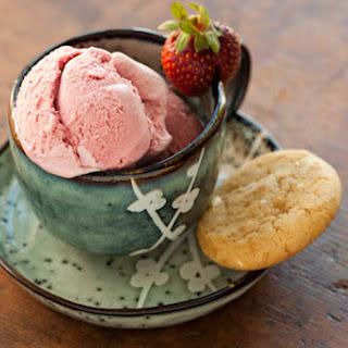 Fresh Strawberry Ice Cream.