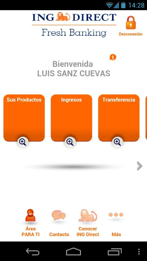 ING DIRECT España - screenshot